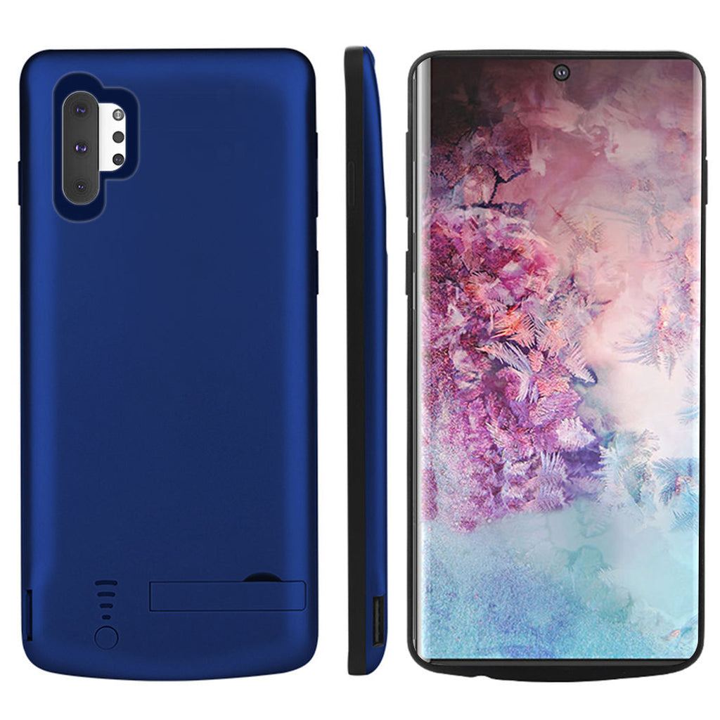 Battery Case Note 10 plus Charging Case 5000mAh Extended Rechargeable Battery Cover Backup Blue
