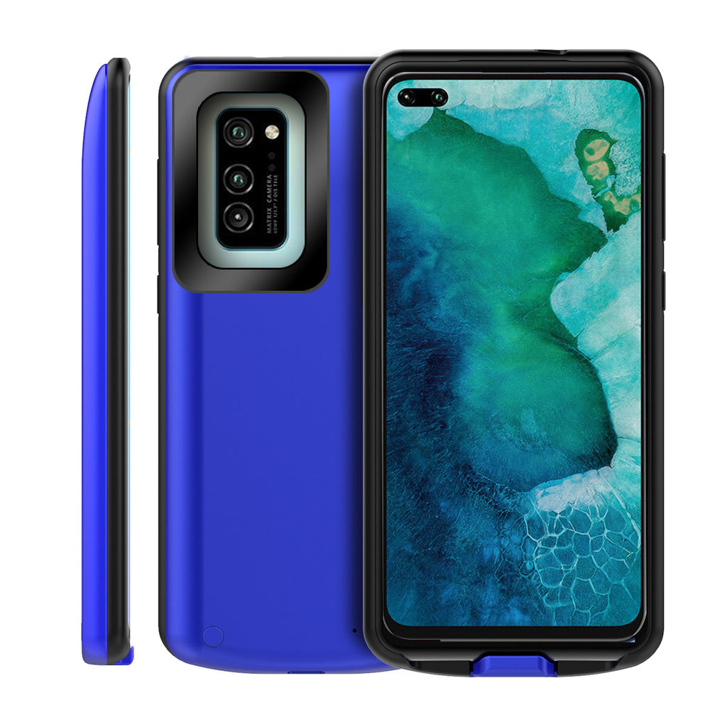 Honor V30 Battery Case Extended Battery Juice Pack 6500mAh Power Bank with LED Indicator Blue