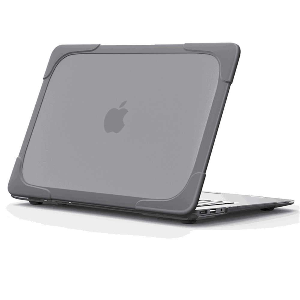 Transparent Case for MacBook 11 Inch with Retina Display Rubberized Hard PC Protective Laptop Shell Grey