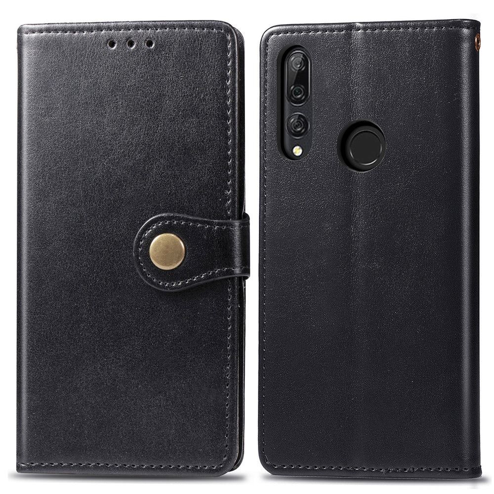 HUAWEI Y9 PRIME 2019 leather case flip flop anti fall cover phone wallet with card slots Black