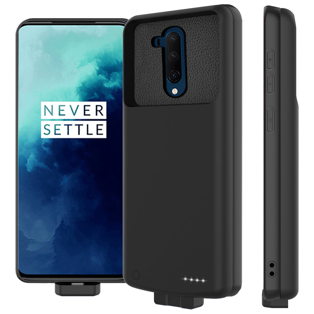 Oneplus 7T Pro Battery Case 7000mah Extended Battery Backup Protective Charging Case Black