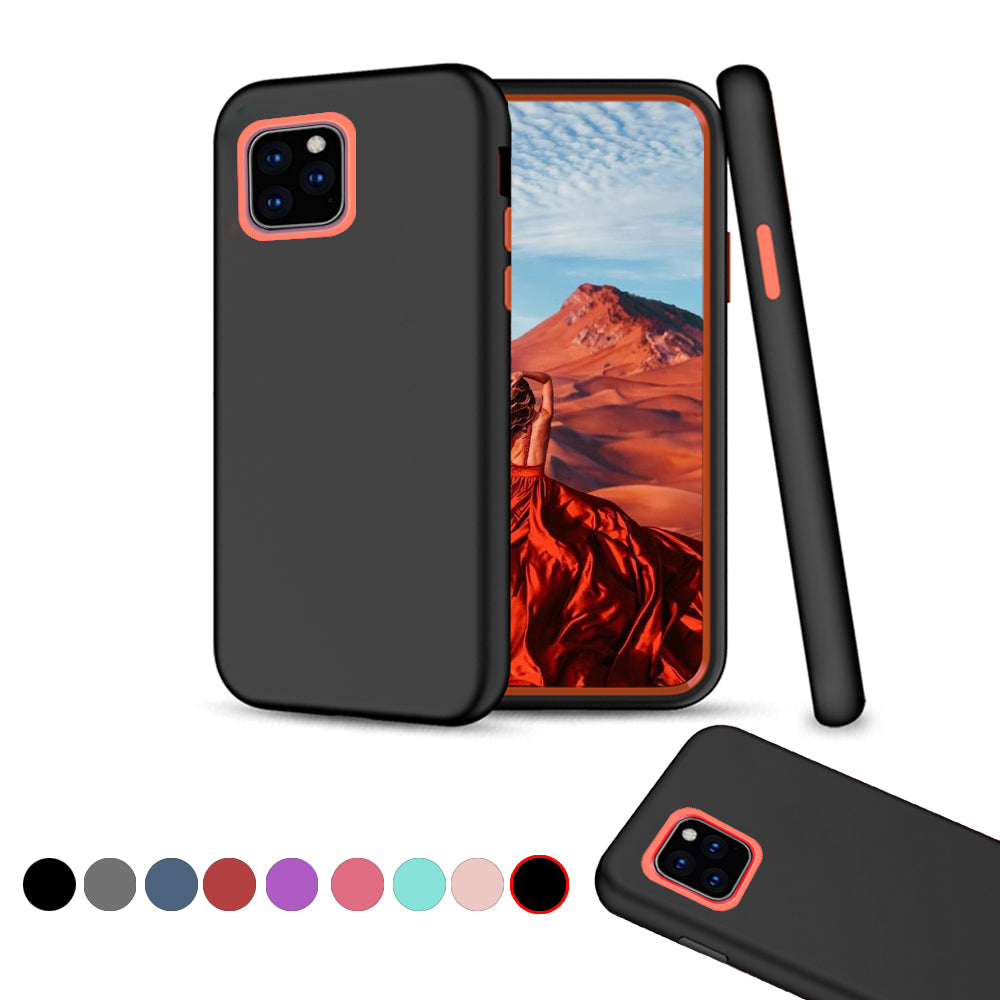iPhone 11 Pro Case Armor Heavy Duty Protection Phone Cover Red-Black