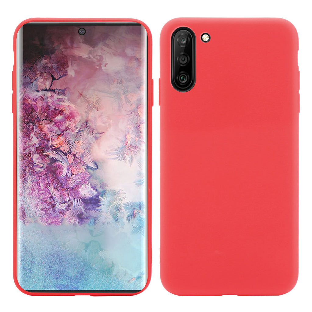 Cover for Galaxy Note 10 TPU Soft Shockproof Back Protective Case - Candy Red