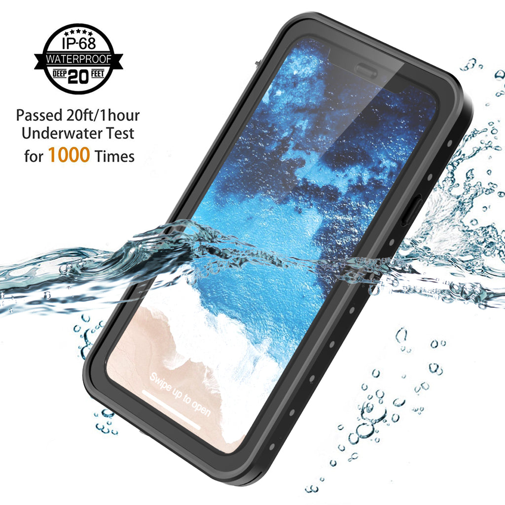 iPhone XR Waterproof Case with Floating Strap