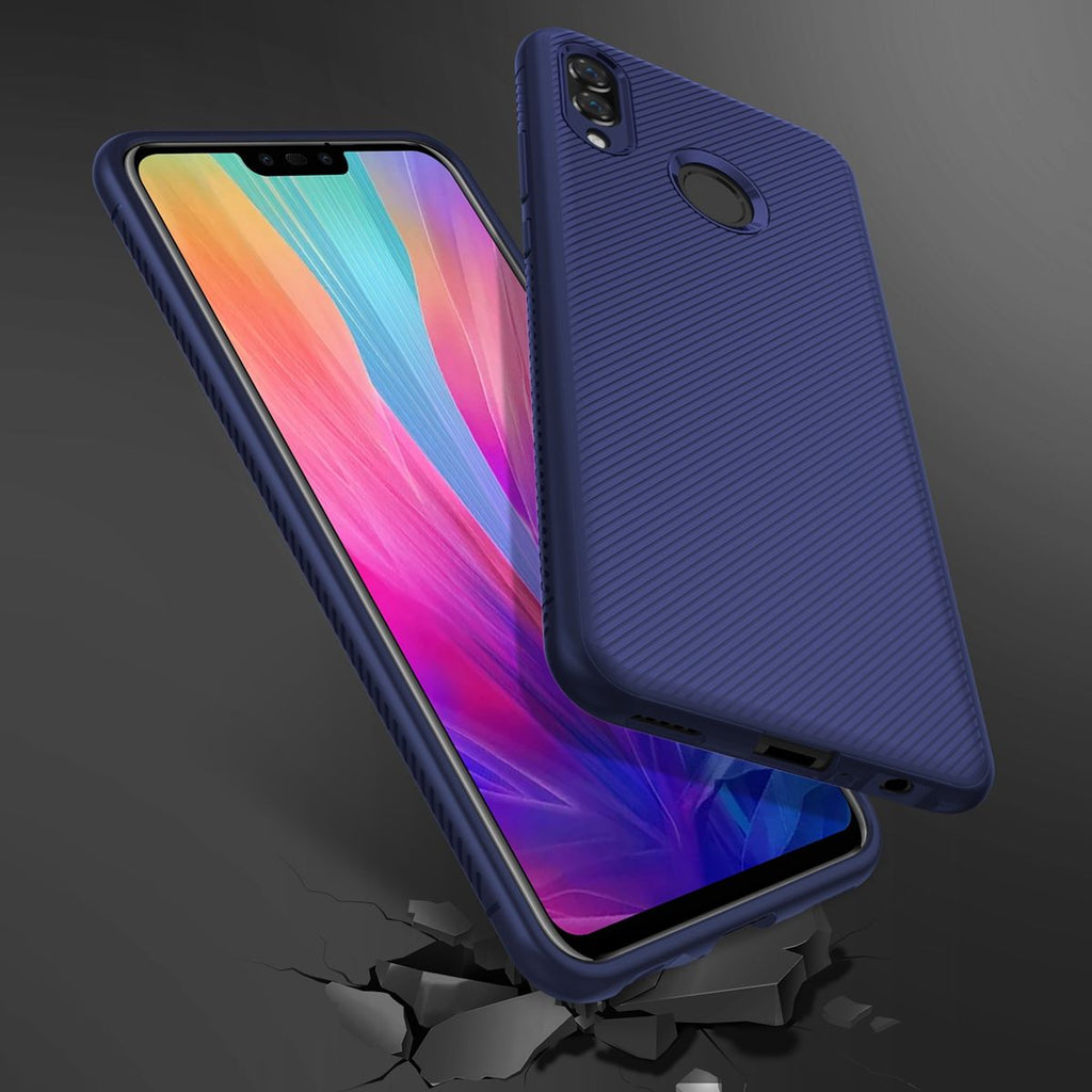 Huawei Honor 10 Lite 2019 Case Slim Shockproof Back Cover Defender Bumper Case Dark Blue