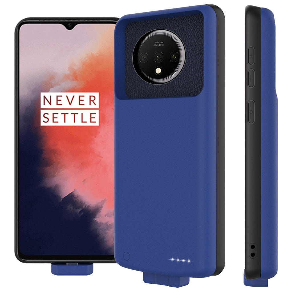 Oneplus 7T Battery Case Portable Extended Battery Cover 7000mah Rechargeable Charger Blue