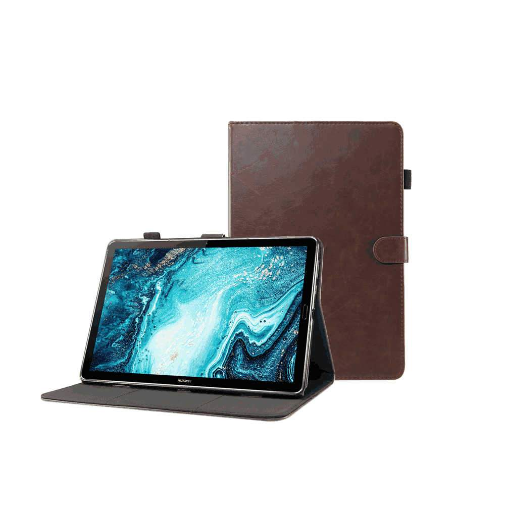 Case for Huawei MatePad Pro 10.8 Inch Slim Folding Stand Cover with Cash Card Slots & Pencil Holder Brown