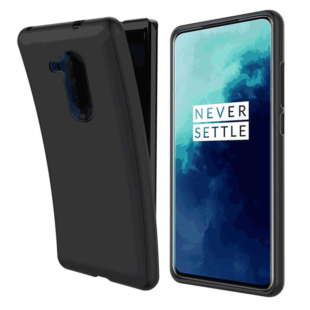 OnePlus 7T Pro Case Scratch Resistant Anti Slip Full Protection Soft TPU Case Black