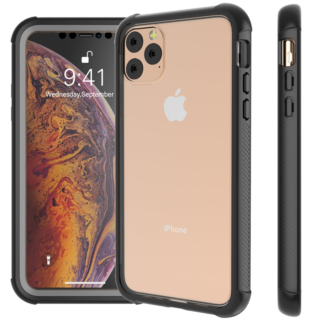 Cases for iPhone 11 pro max with Screen Protector Dirtproof Cover Protection Cases Black