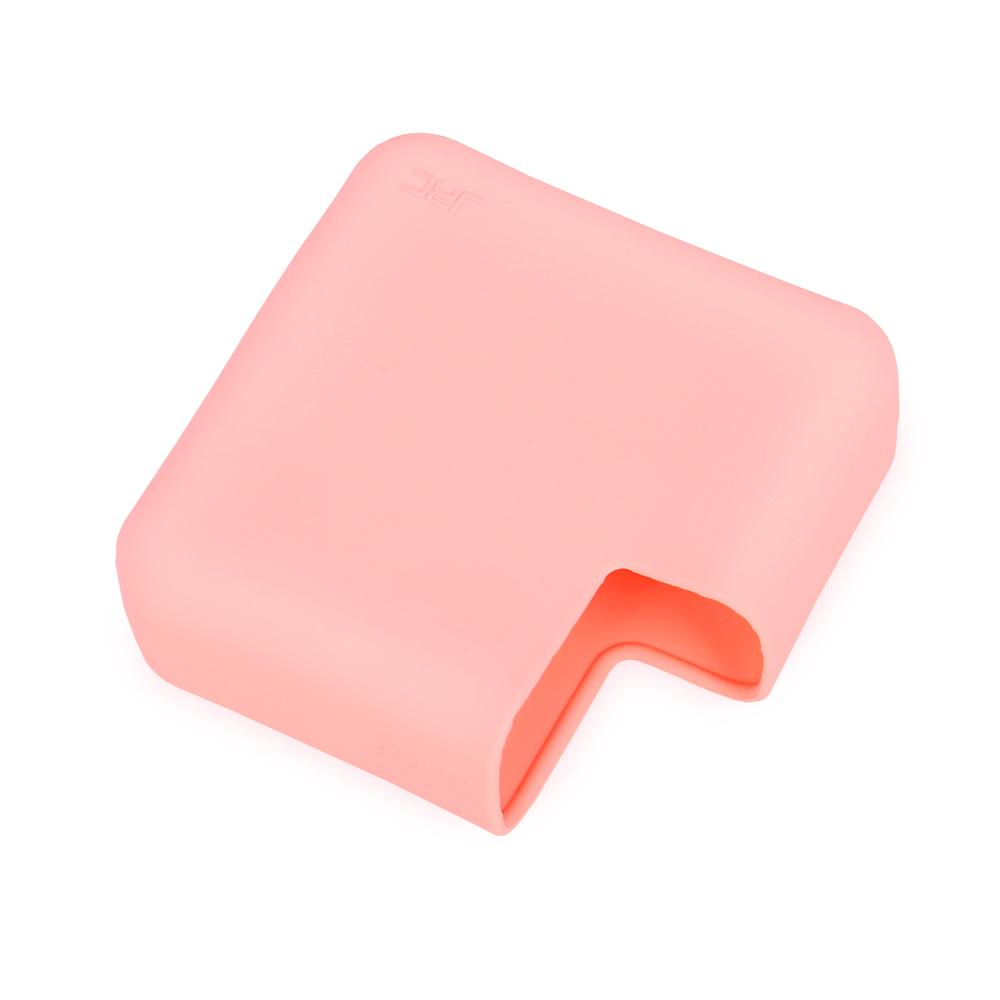 Silicone Protective Cover Case for Apple MacBook Pro 16 Inch Power Adapter Shockproof Case Pink