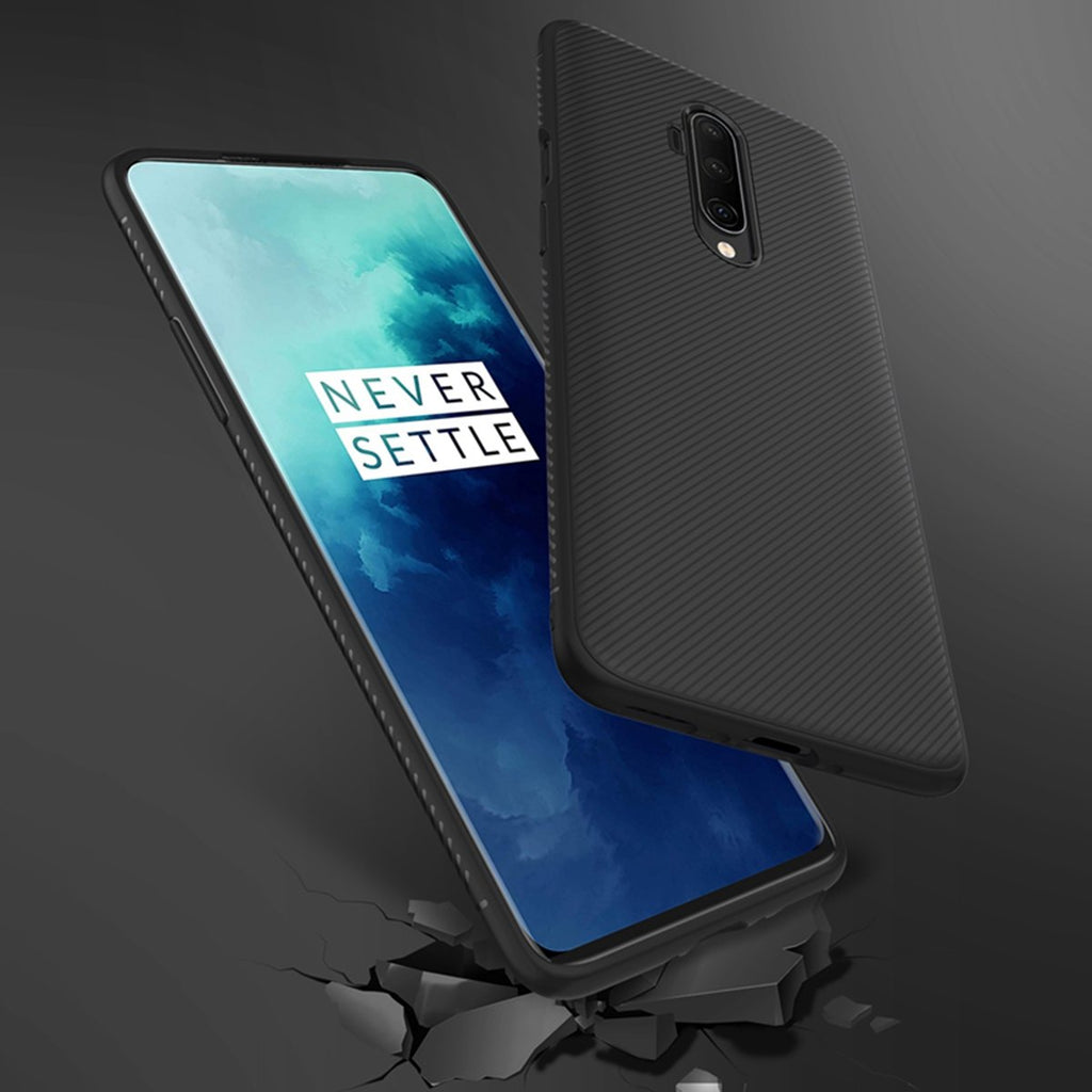 Case for OnePlus 7T Pro TPU Shock Absorbent Slim Protective Cover Black