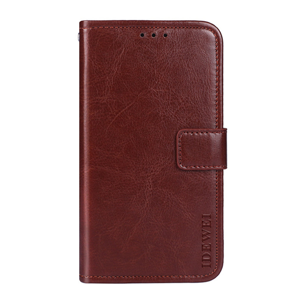 Wallet Case for Realme X2 Leather Wallet Case with Card Holder Kickstand Brown