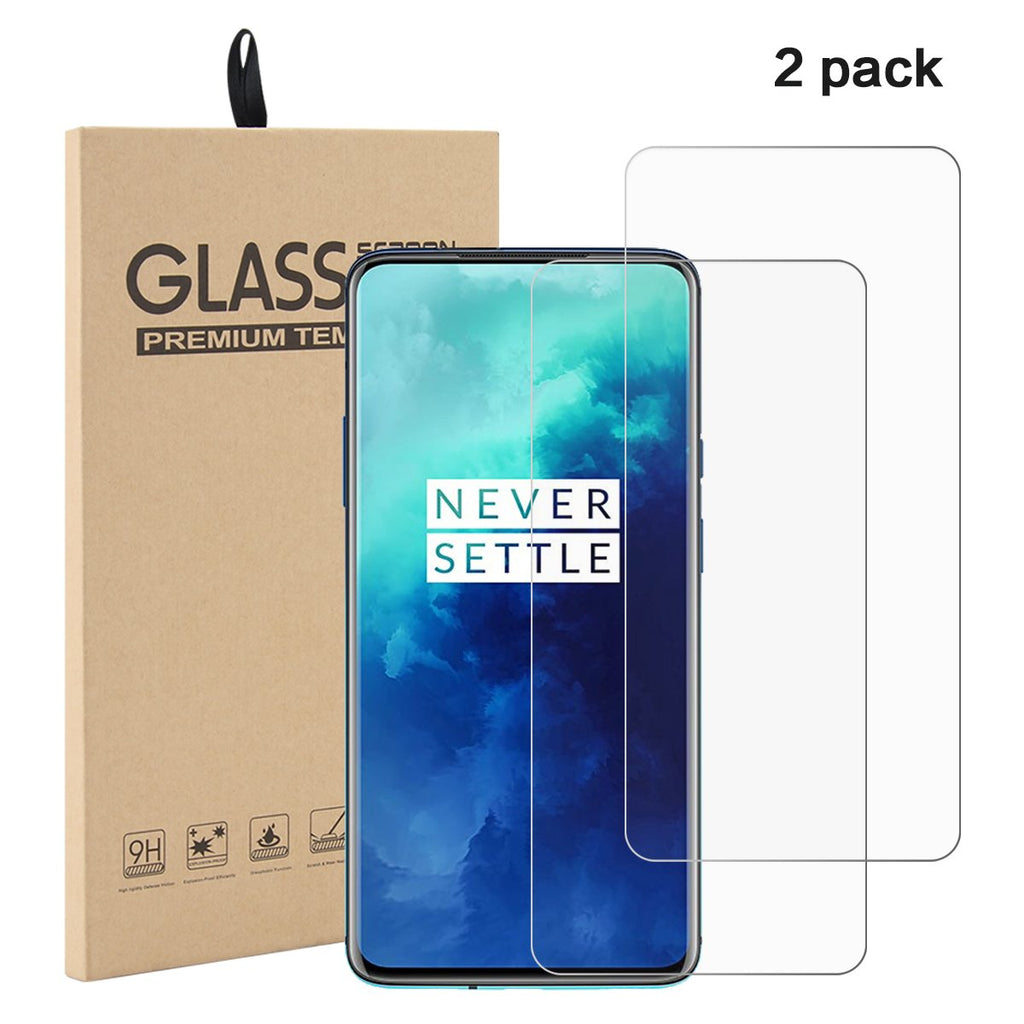 Oneplus 7T Pro Tempered Glass Screen Protector Anti Fingerprint 3D Full Curved Edge 2 Pack