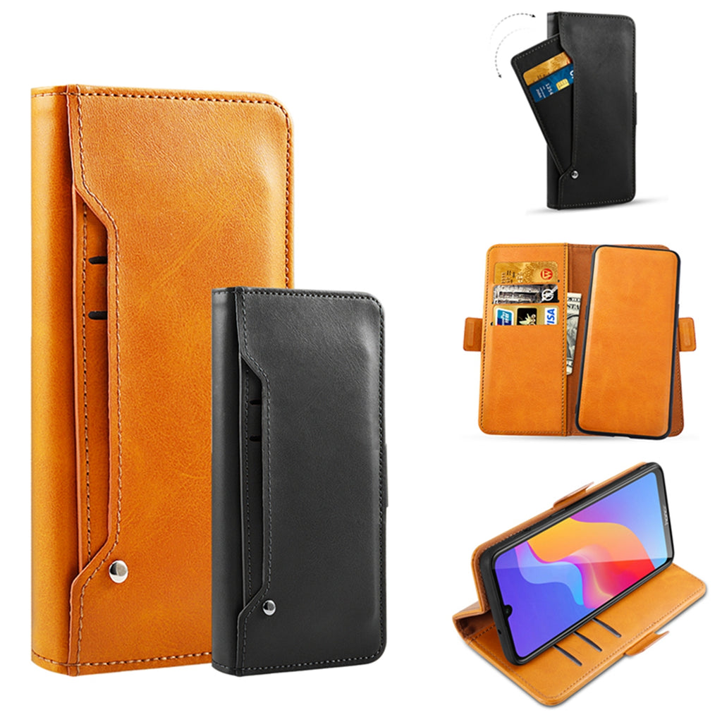 iPhone 11 Leather Case Detachable Wallet with Multiple Credit Card Sots Orange