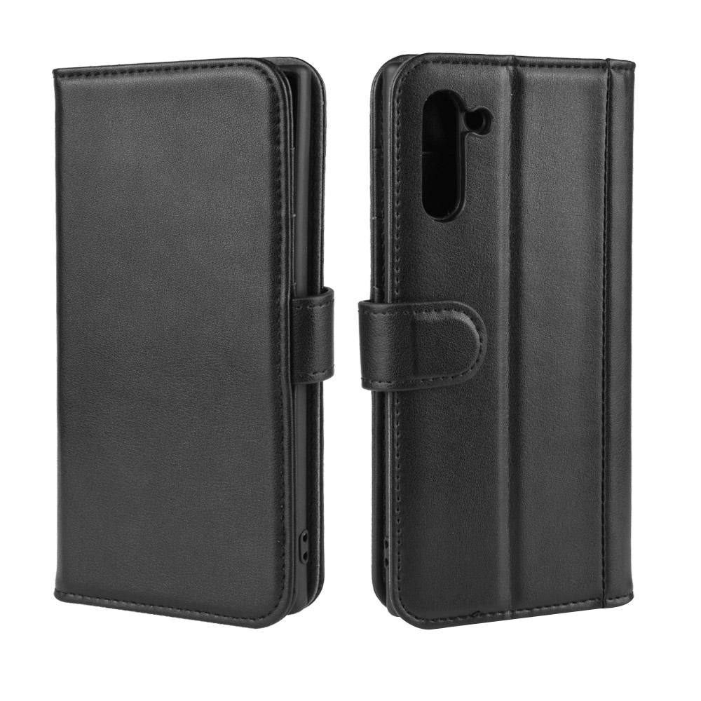 Genuine Leather Cases for Samsung Galaxy Note 10 Wallet with Card Slots Black
