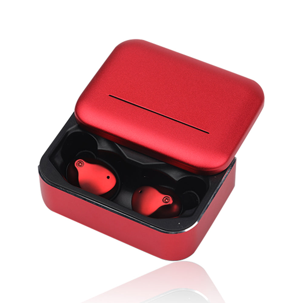 Wireless Earbuds TWS Bluetooth 5.0 True Wireless Earphones with Charging Case for Women Red