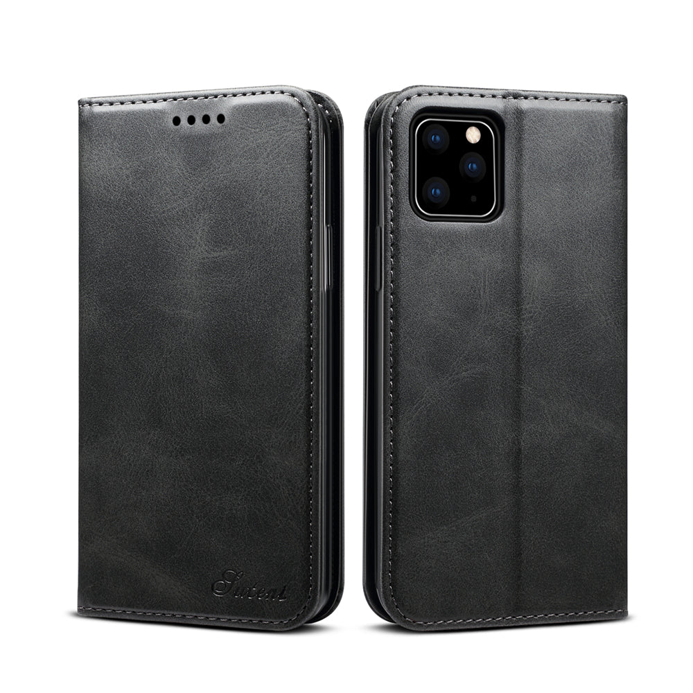 iPhone 11 Wallet Case Leather Case Folio Cover with Card Holder Slots Cash Pockets Black