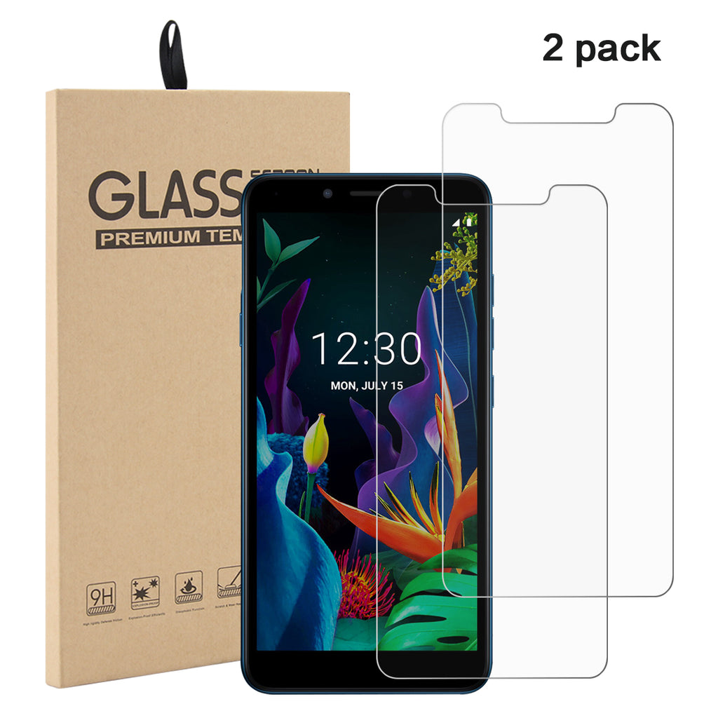 LG K20 Tempered Glass Screen Protector 99.99% HD Clarity Non-full Screen Film 2 Pack