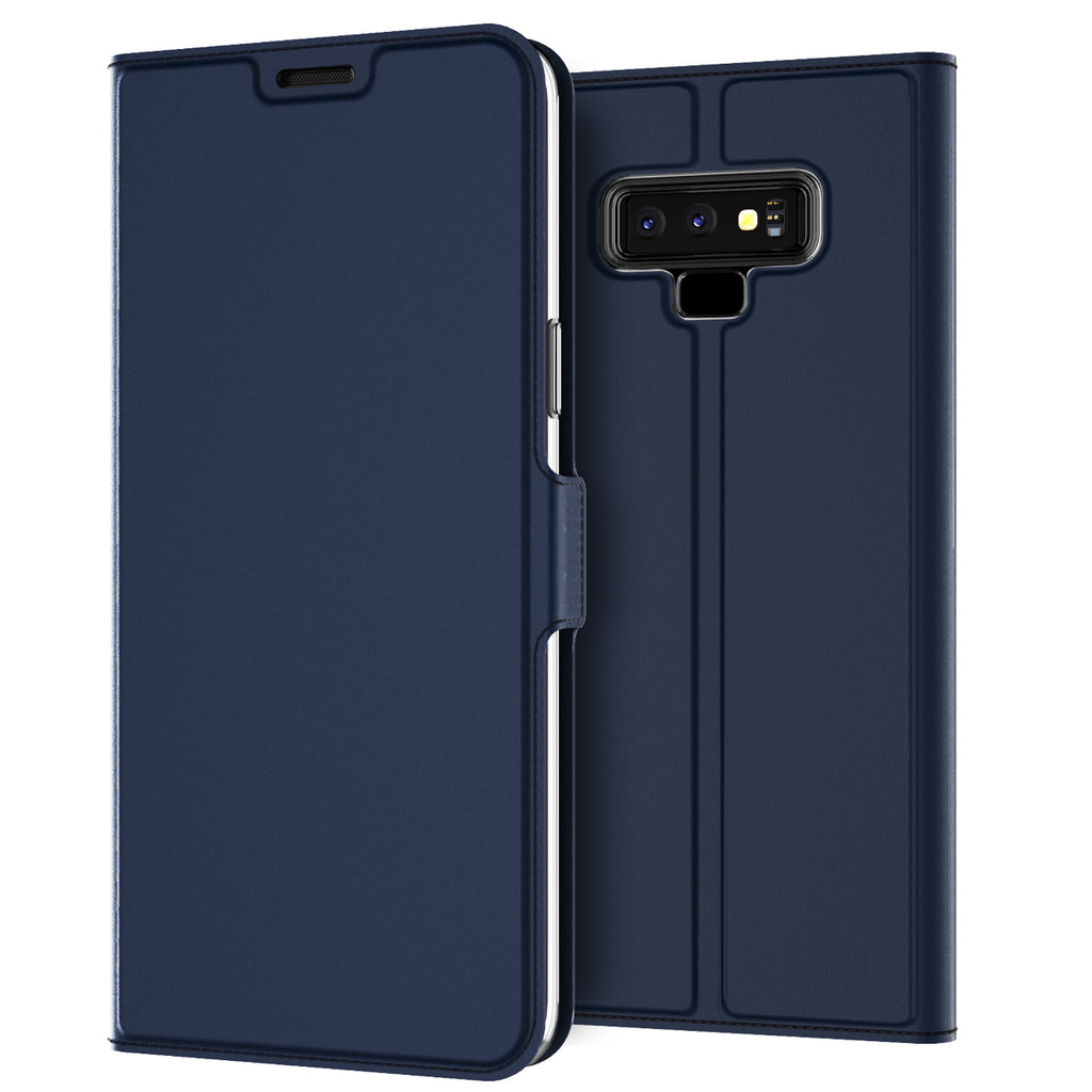Samsung Galaxy Note 9 Flip Case PU Leather Stand Wallet Case Blue