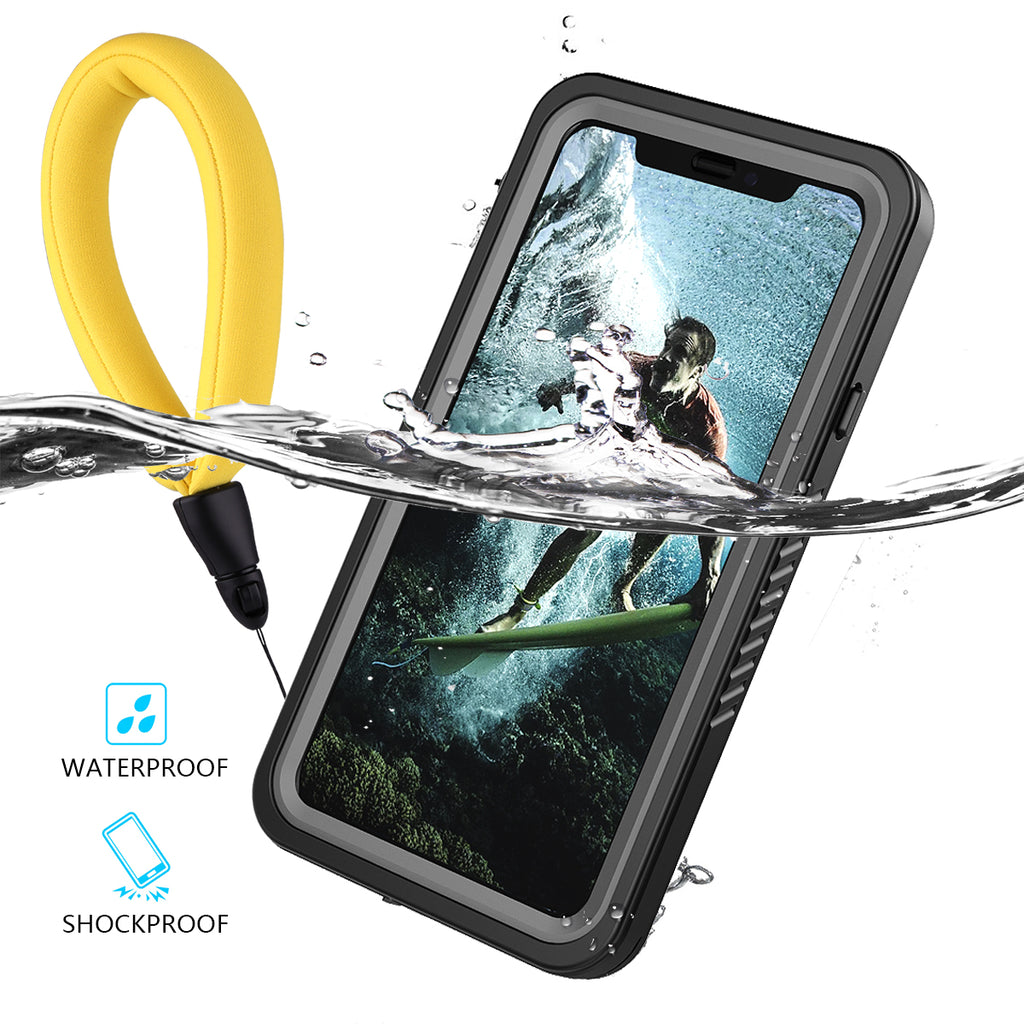 Moonmini iPhone XR Waterproof Case with Floating Strap
