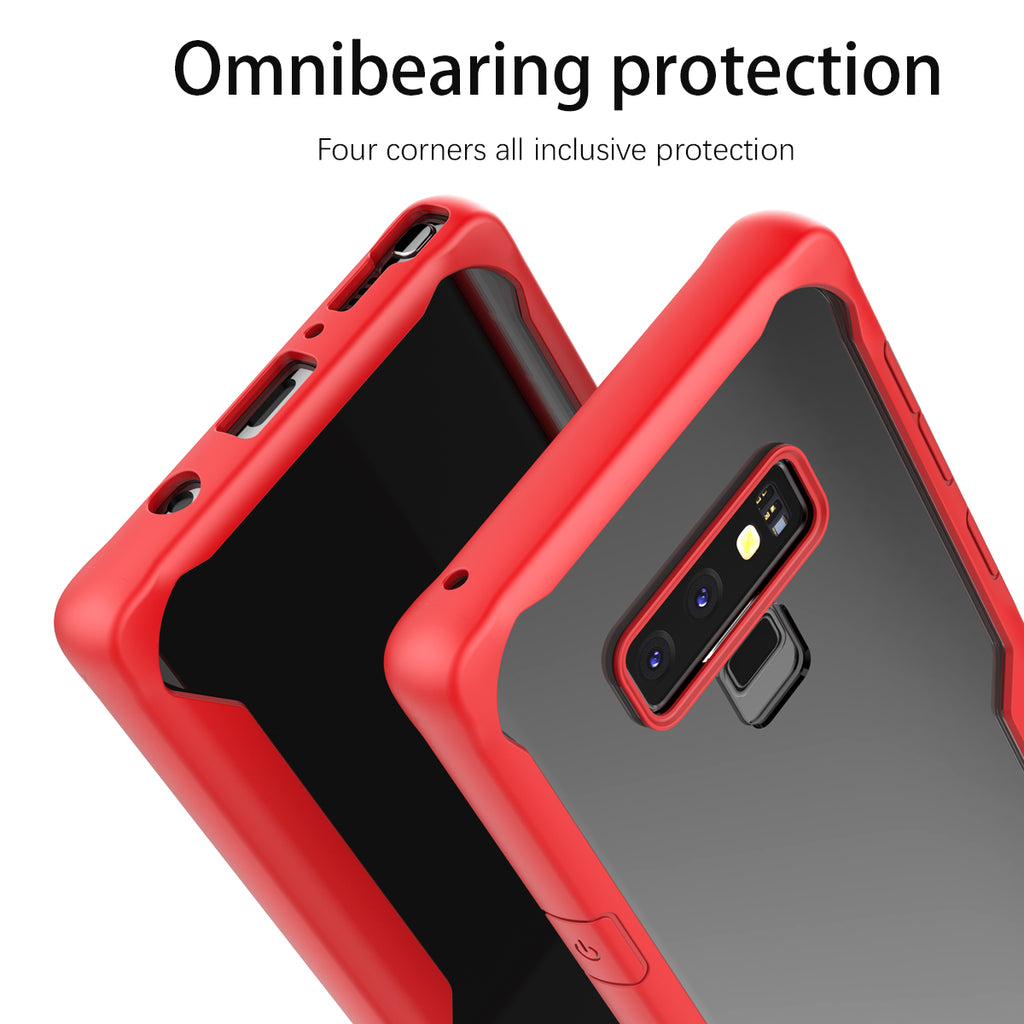 Samsung Galaxy Note 9 Case Soft TPU Dropproof Shockproof Phone Back Case Protection Cover (Red)