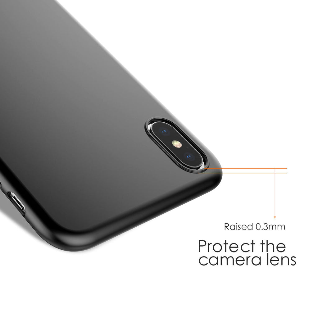 iPhone Xs Max Case Ultra Thin Lightweight Hard PC Cover Full Protection Black