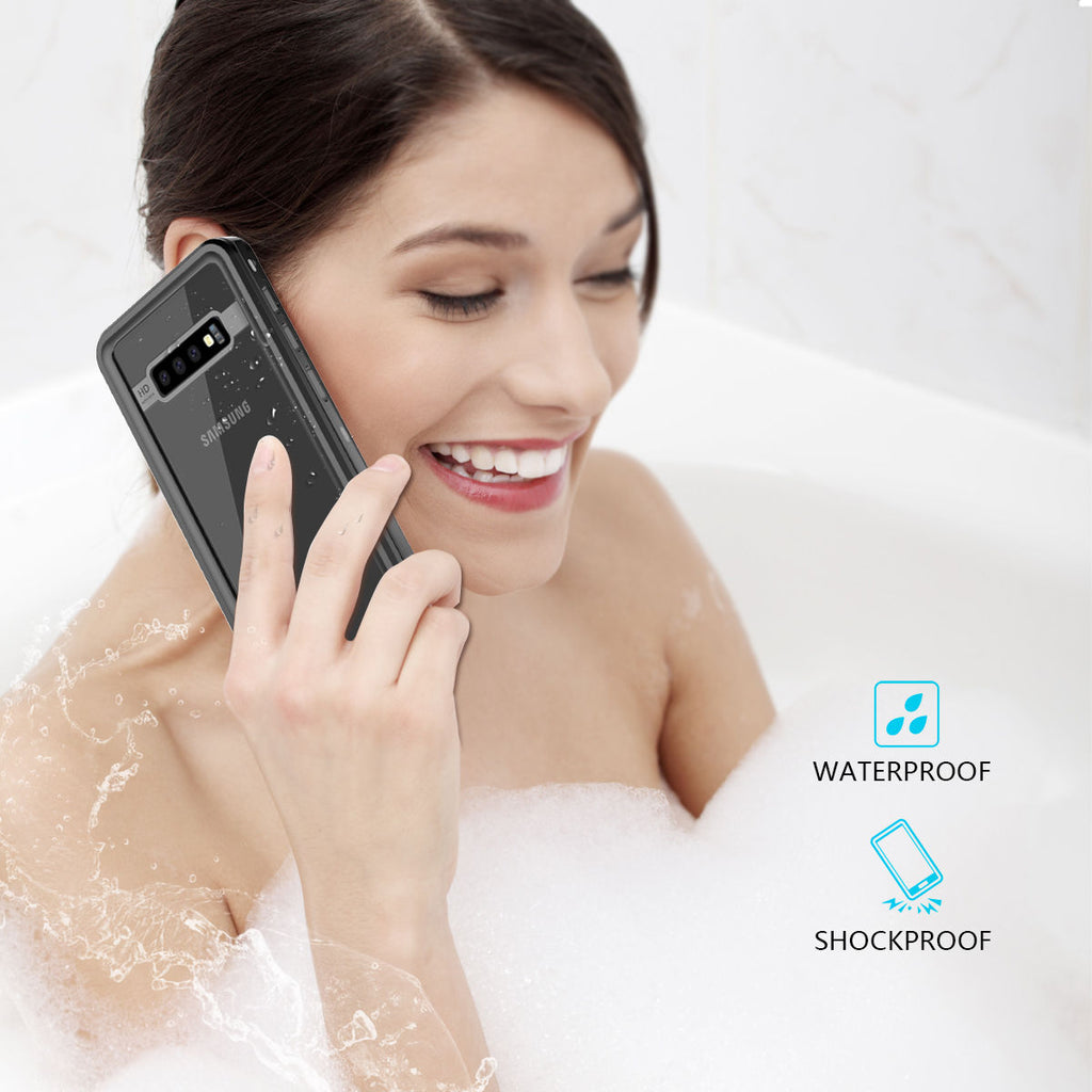 Samsung S10 Waterproof Case Galaxy IP68 Certified with Buoyancy Cotton Floating Strap