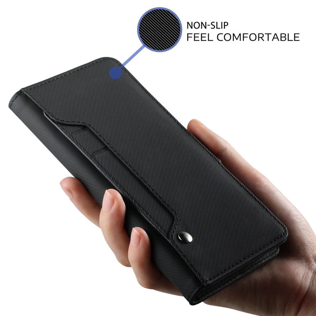 Huawei Honor 10 Lite Leather Case Premium PU Leather Cover Black