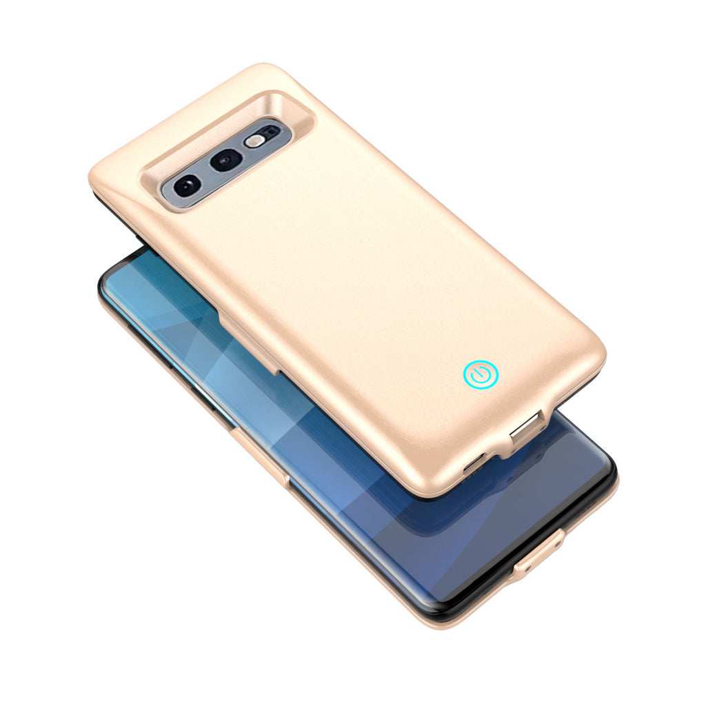 Galaxy S10e 5500mAh Rechargeable Extended Battery Charger Case Ultra-Slim Protective Back Cover Golden