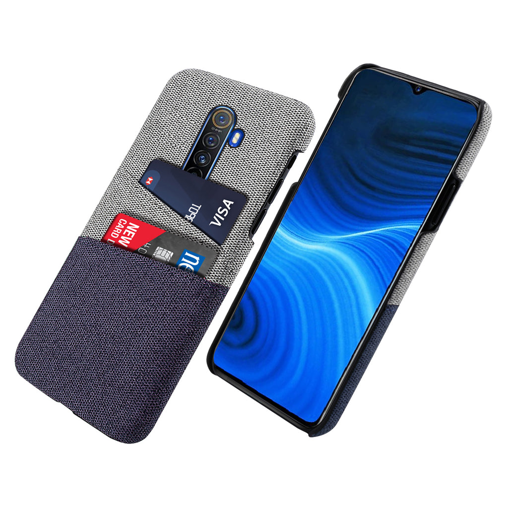 Wallet Case for Realme X2 Pro Ultra Slim Canvas Style Cardholder Case Blue