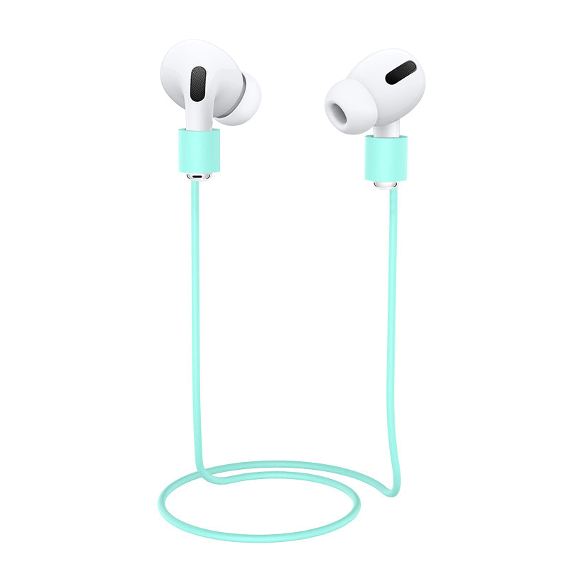 Airpods Pro Anti Lost Strap Anti-Loss Cable Lightweight Silicone Wire Compatible with AirPods Pro Mint Green