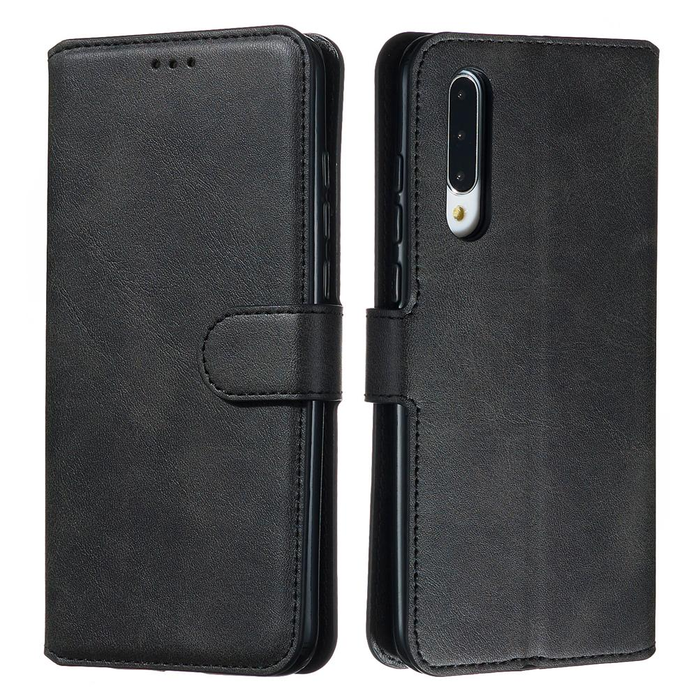 Xiaomi Mi CC9 Wallet Case with Kickstand Credit Card Holder Leather Cover Black