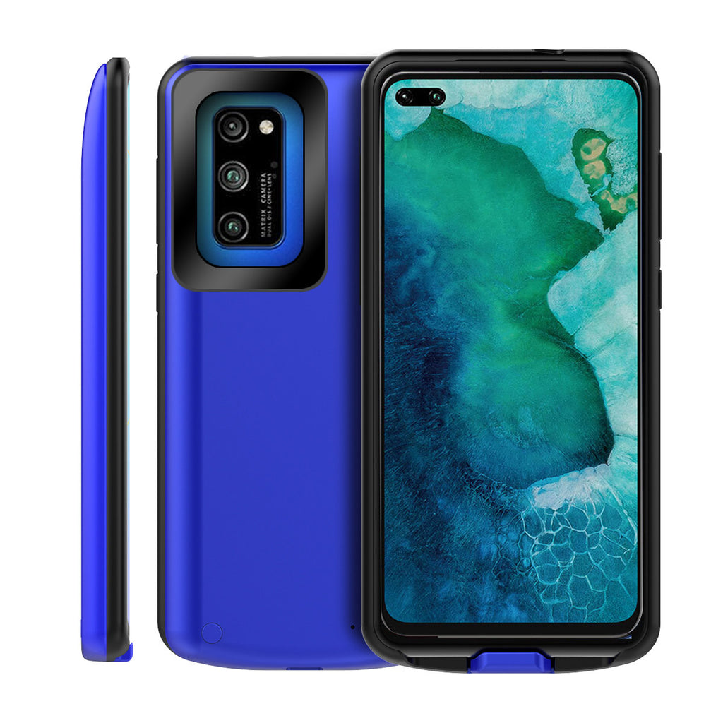 Honor V30 Pro Battery Case 6500mah Extended Battery Protective Case Power Bank Pack Blue