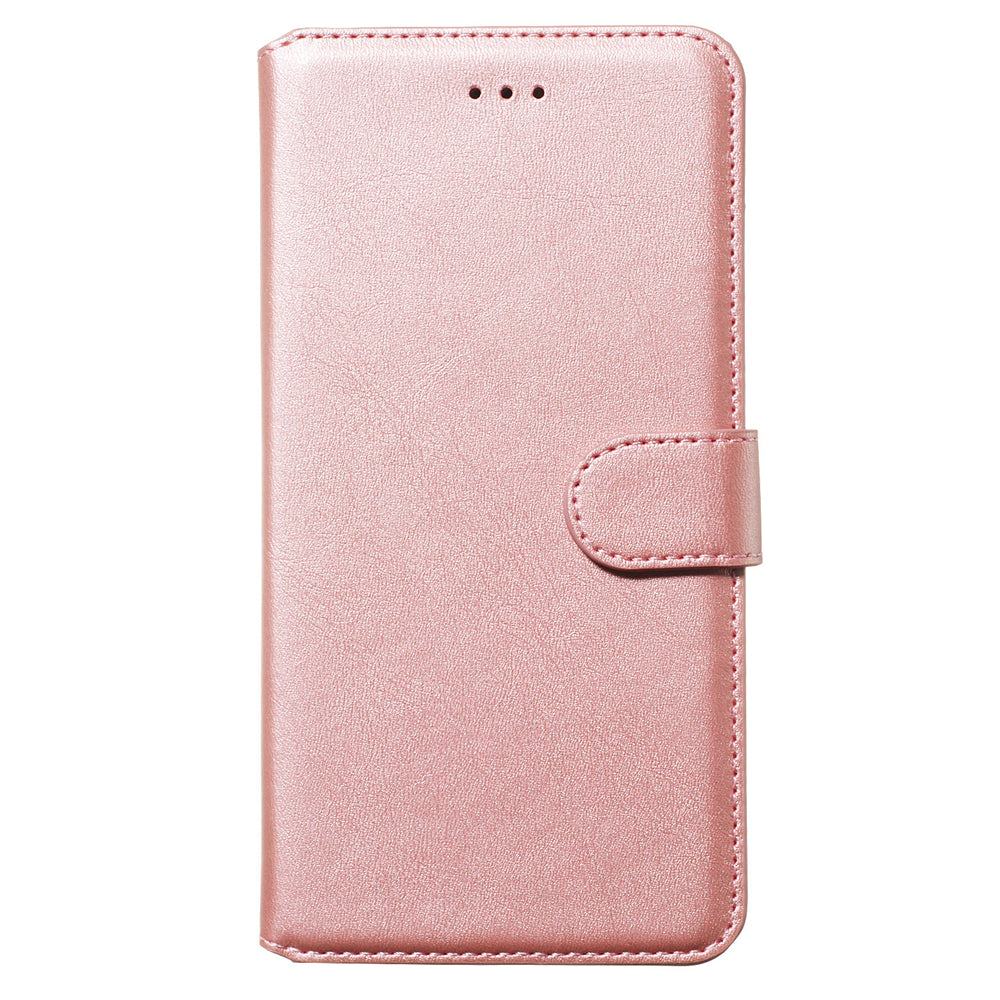 Realme 5 Case PU Leather Wallet Card Slots Slim Fit Flip Cover with Kickstand Rose Gold