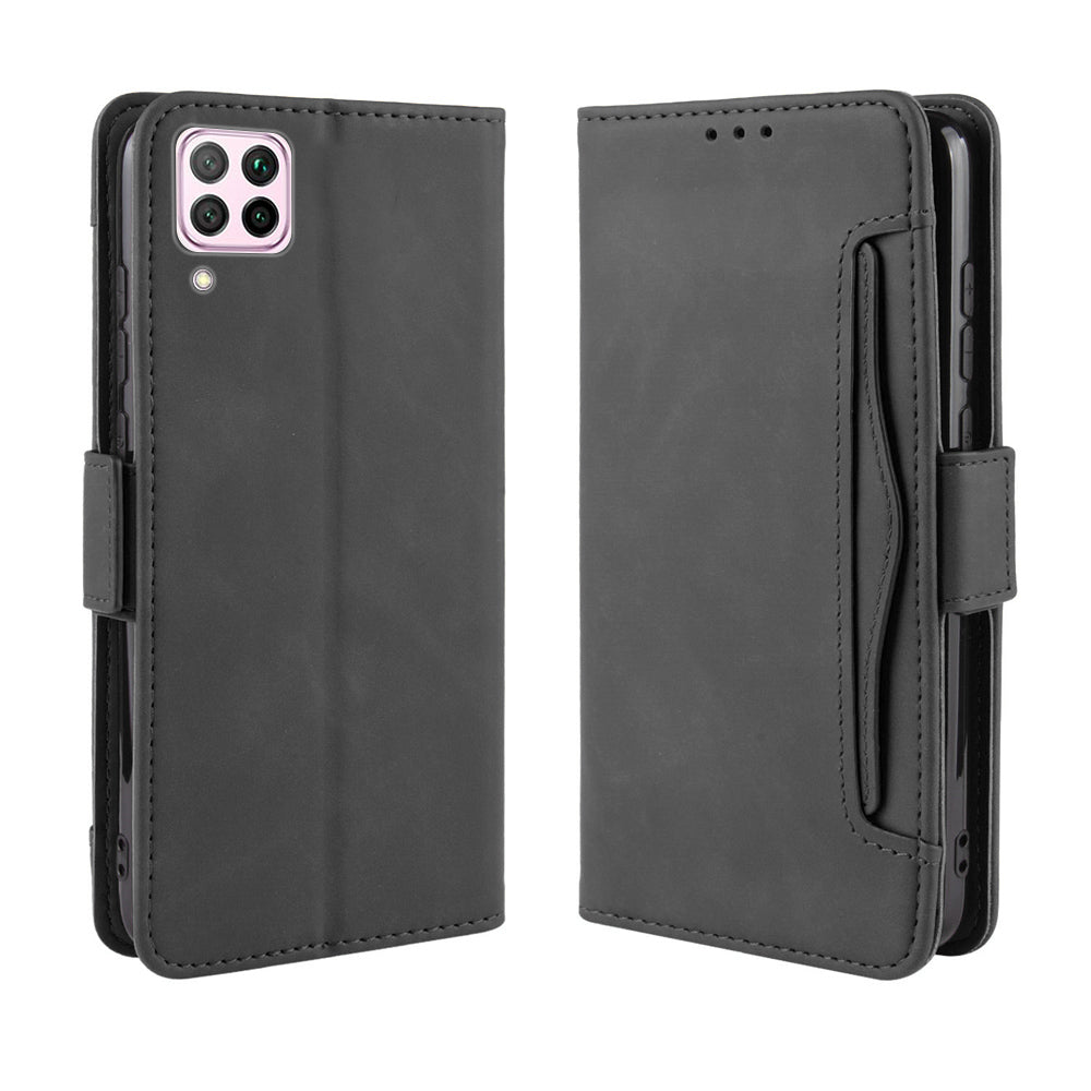 Huawei nova 6 SE Wallet Case with Card Holder PU Leather Kickstand Case Shockproof Cover Black