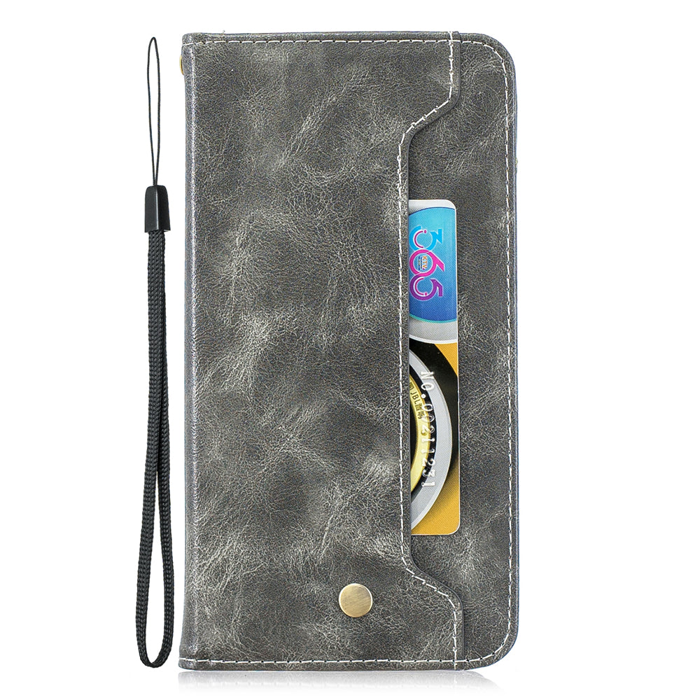 Wallet Case for iPhone 11 pro max 6.5inch with 3 Card Slot & Cash Pocket Grey