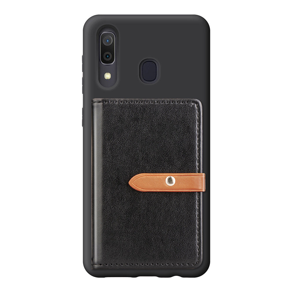 Samsung Galaxy A30 Wallet Case with Cash Pocket Magnetic Closure Card Holder Cases Black