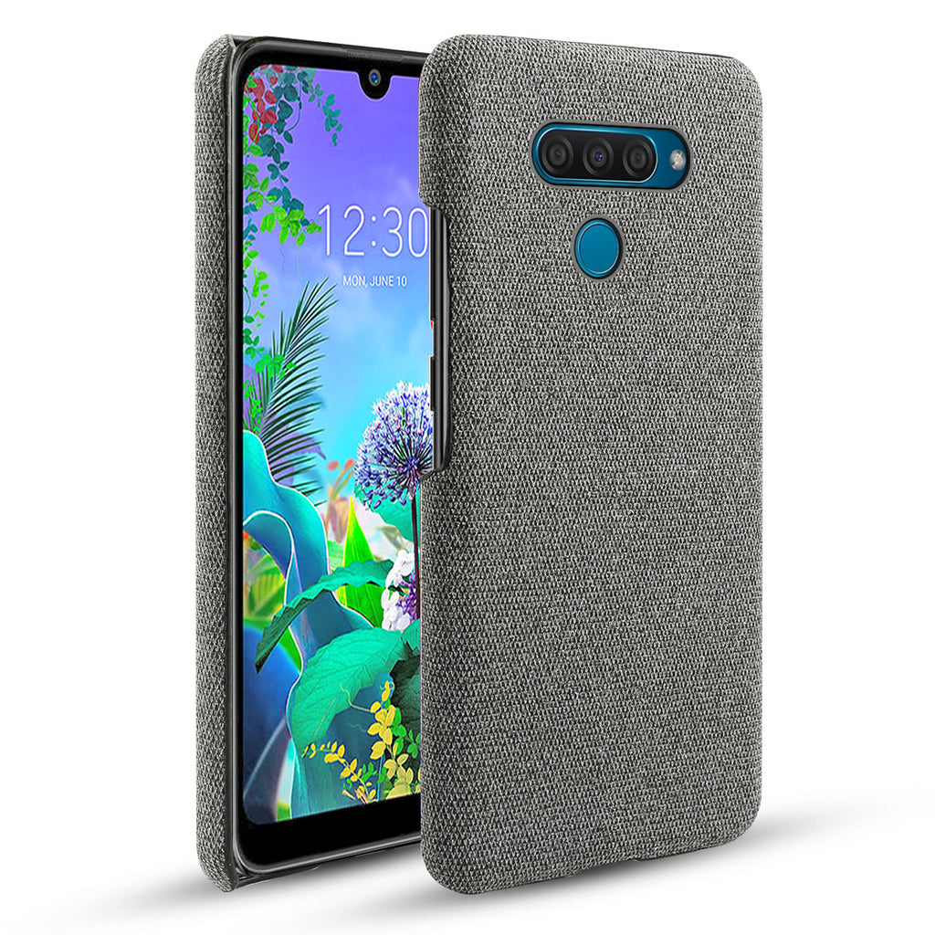 LG Q60 Case Ultra Thin Fit Hard Slim Cover for LG Q60 Fabric Case Grey