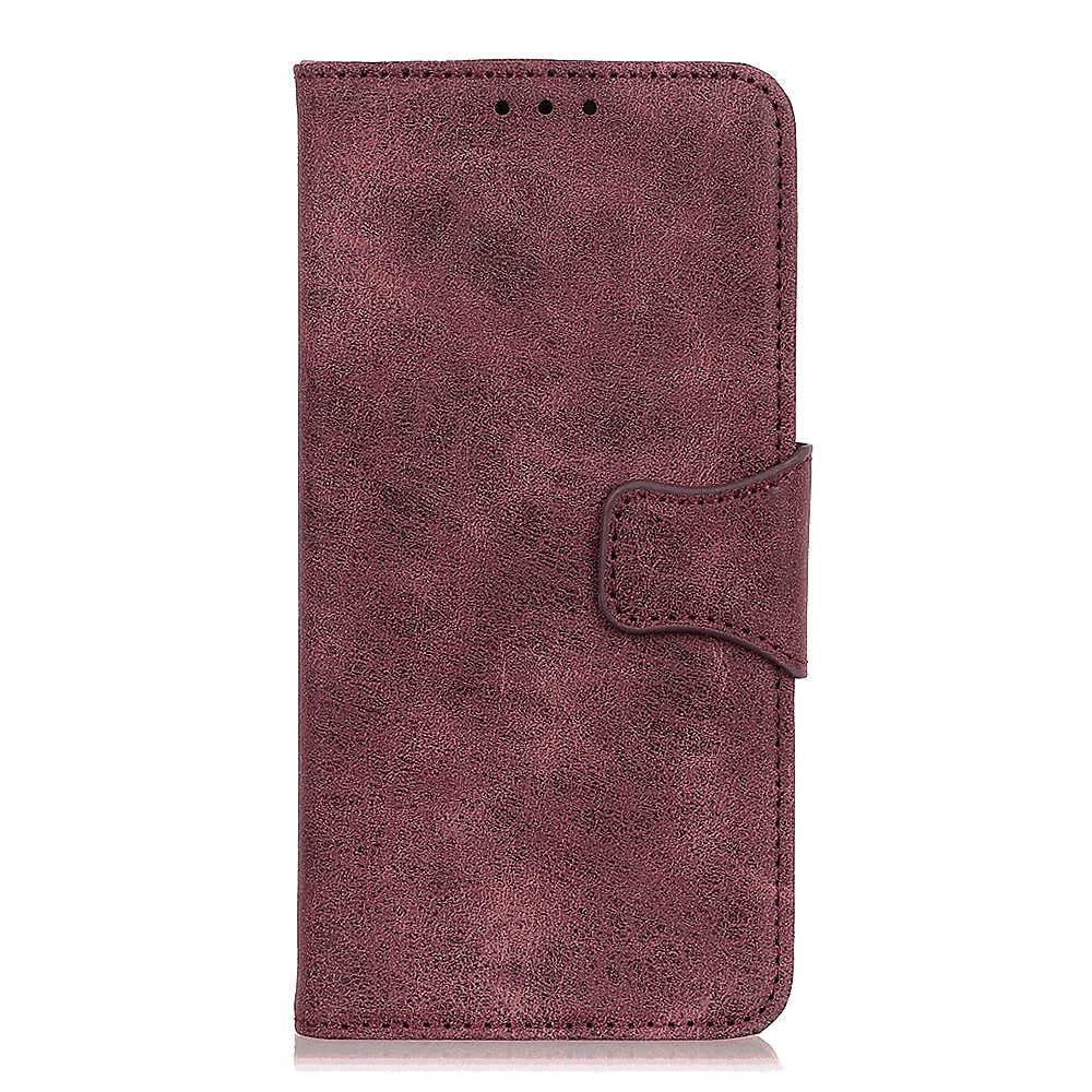Huawei Honor V30 Case Leather Wallet with Viewing Stand and Card Slots Flip Cover Purple