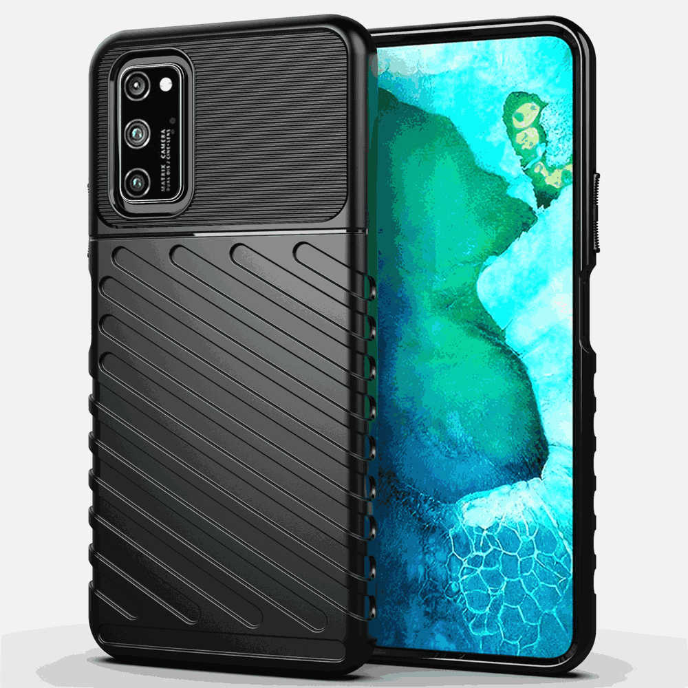 Huawei Honor V30 Case Ultra Slim Frosted Texture Soft TPU Phone Case Anti-Scratch Protective Cover Black