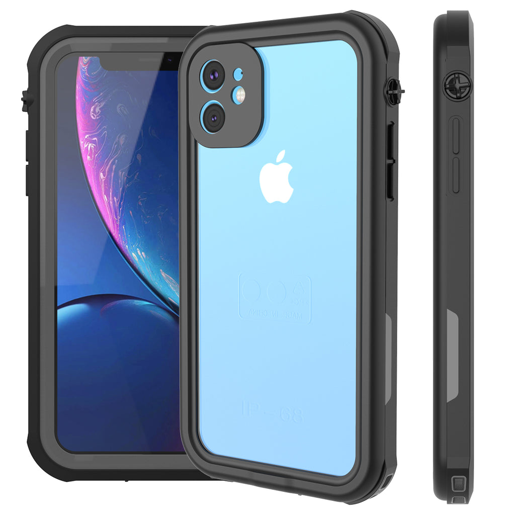 iPhone 11 Waterproof Case Built-in Screen Protector Full-Body Rugged Cover Black