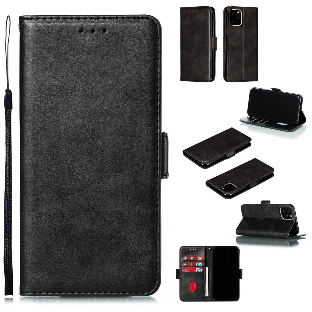 iPhone 11 Wallet Case Leather Flip Magnetic Case with Credit Card Slots Black