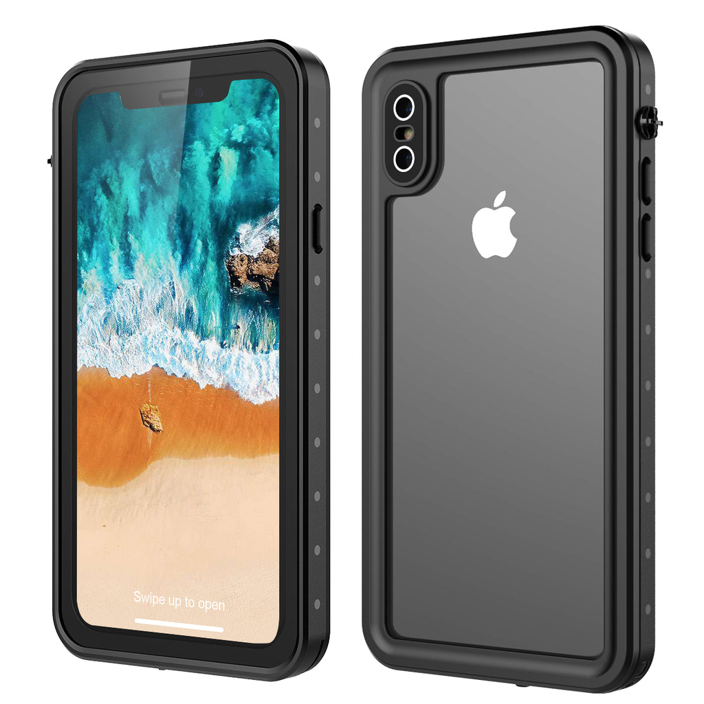 Moonmini iPhone XS Max Waterproof Case IP68 Certified with Floating Strap
