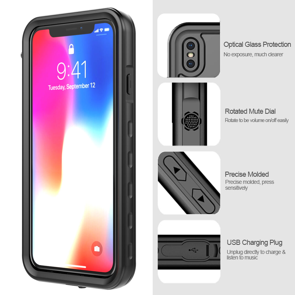 iPhone XS Max Waterproof Case IP68 Certified Slim Armor Design