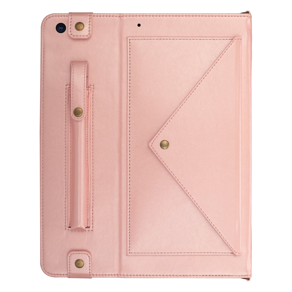 Leather Case for iPad 10.2 Inch 2019 with Pen Holder Kickstand for Girls Pink