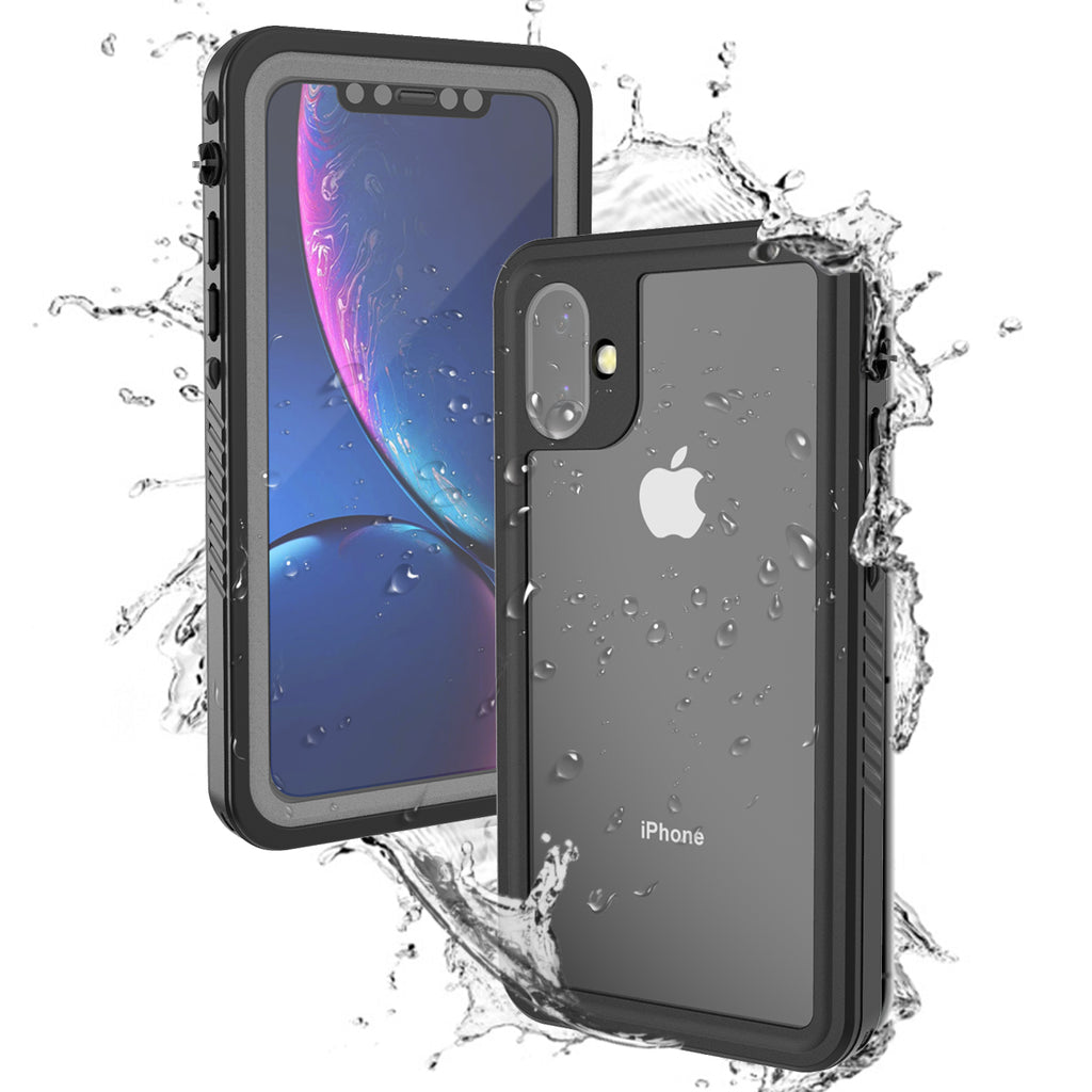 iPhone 11 Waterproof Case Built-in Screen Protector Full Protection Anti Drop Case Black