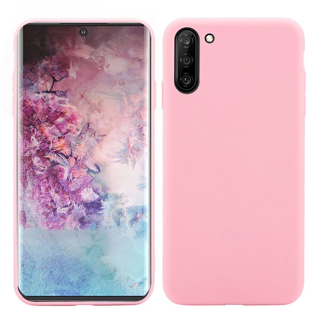 Case for Galaxy Note 10 TPU Anti-shock Candy Case for Women Pink