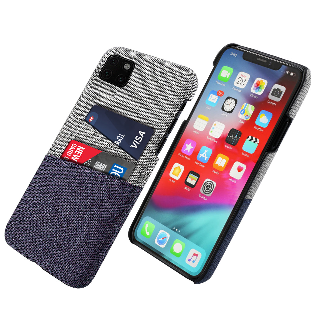 iPhone 11 pro Case with 2 Card Slots Phone Protective Case Blue