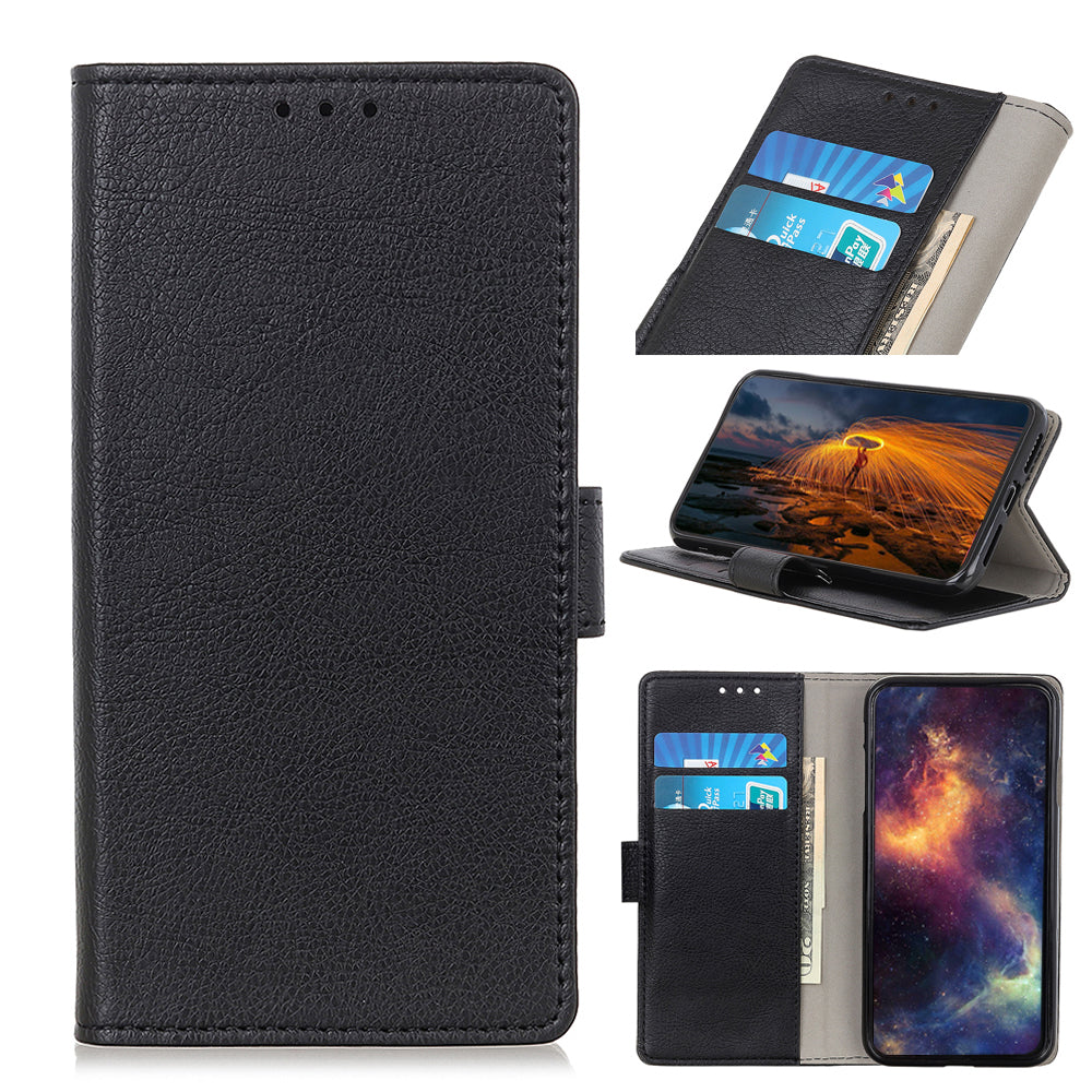 Samsung Galaxy A01 Wallet Case PU Leather Magnetic Closure Full Cover with Credit Card Holder Black