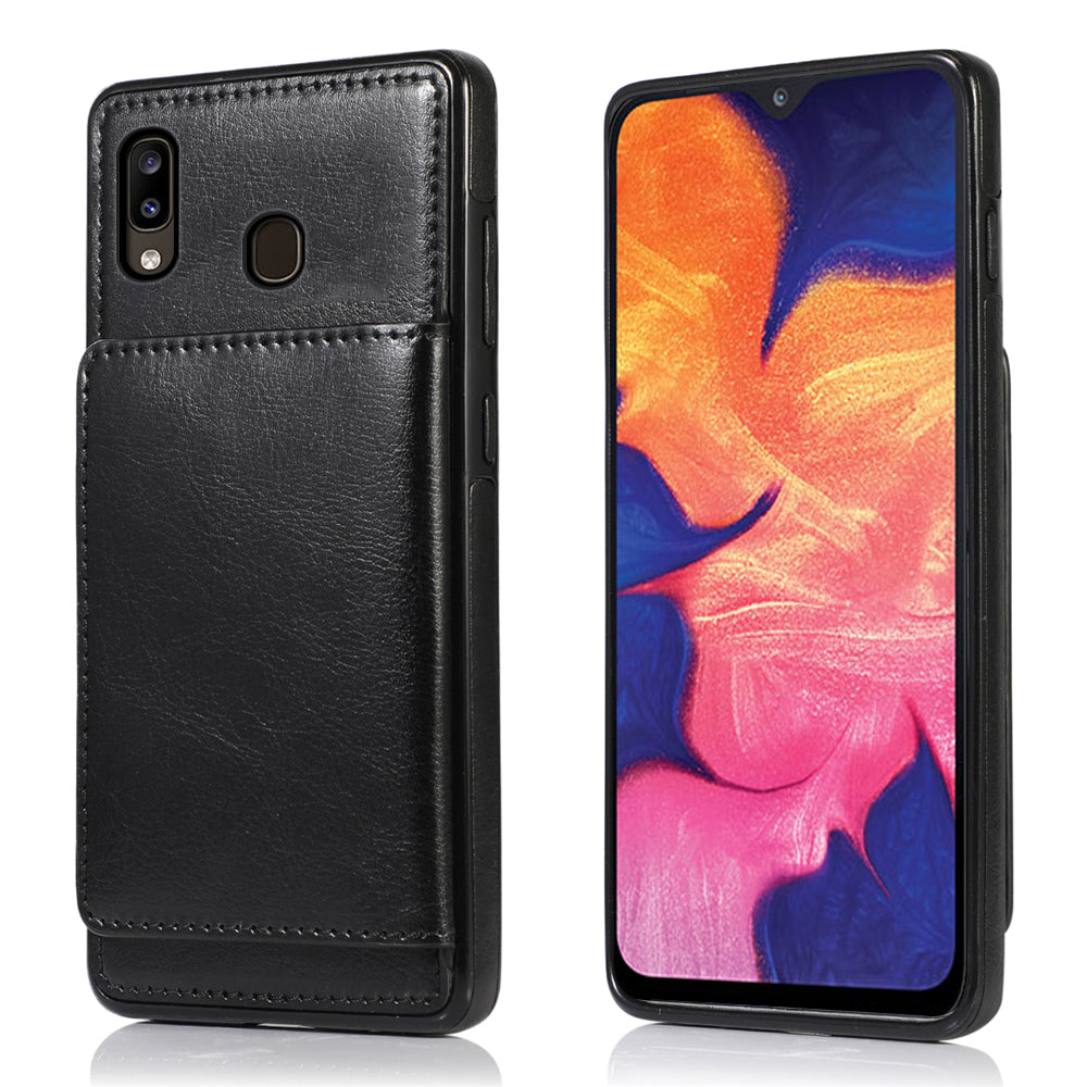 Samsung Galaxy A30 Cardholder Case Dropproof Protective Cover Wallet Case Black